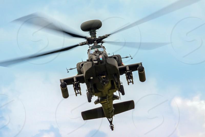Blue Eagles Apache Aerial Display at Biggin Hill Airshow photo