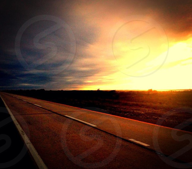 road way sunset view photograpphy  photo