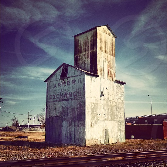 exchange cotton train tracks buildings ironworks metal architecture  photo