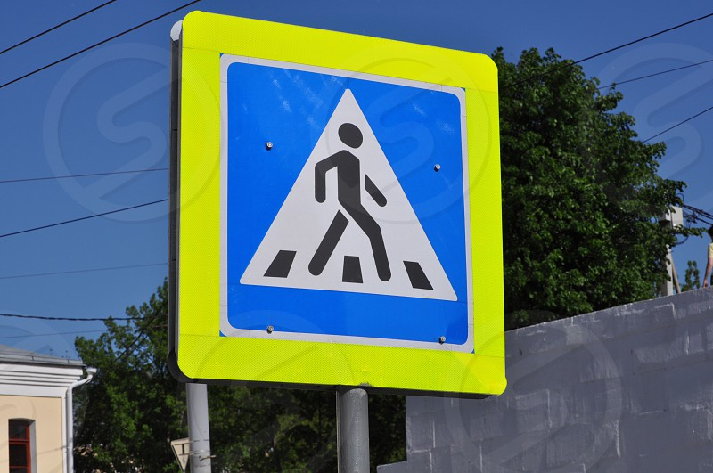 Russian street crossing sign. photo