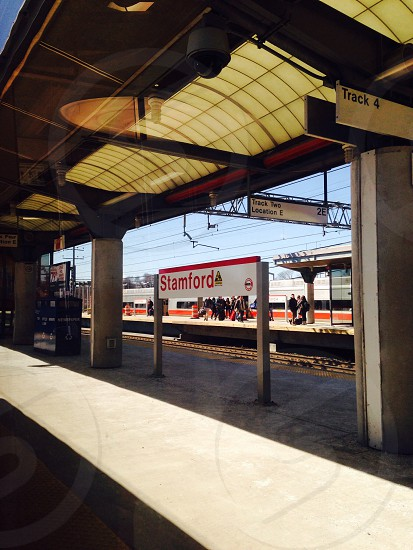 Stamford CT train station...view from train photo