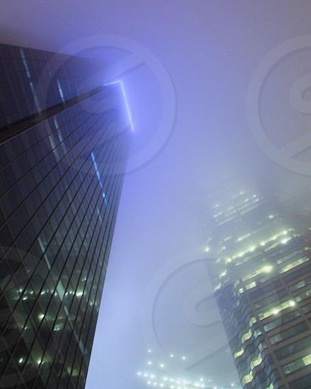 Morning fog brings glowing vistas.  photo