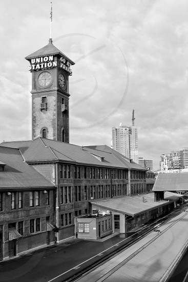 "Historic Union Train Station in Portland Oregon. ""Go by Train"" photo"