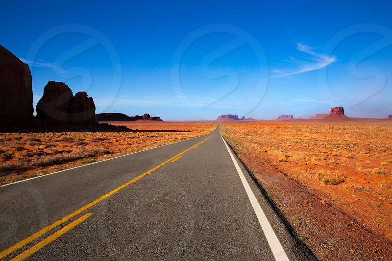 Arizona US 163 Scenic road to Monument Valley Park photo