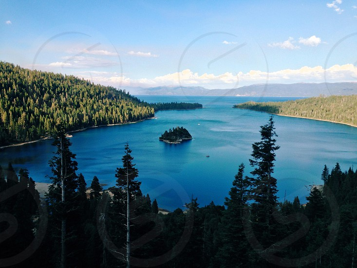 Emerald bay during sunset in Lake Tahoe photo