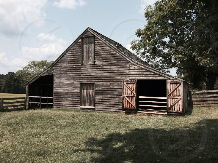 Meeks' barn at Appomattox Court House National Park.  photo