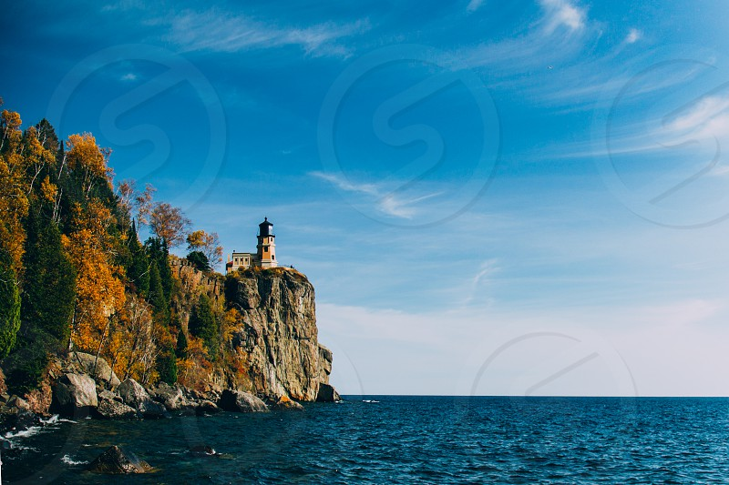 Split rock lighthouse on the north shore of lake superior  photo