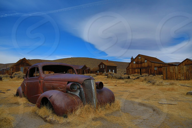 Old Car 1937 Chevy Coupe Ghost Town Bodie California West HDR photo