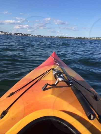 Kayaking on the ocean photo