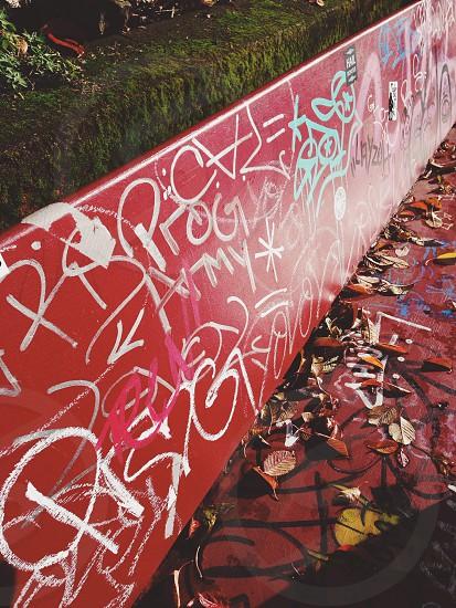 pink graffiti  photo