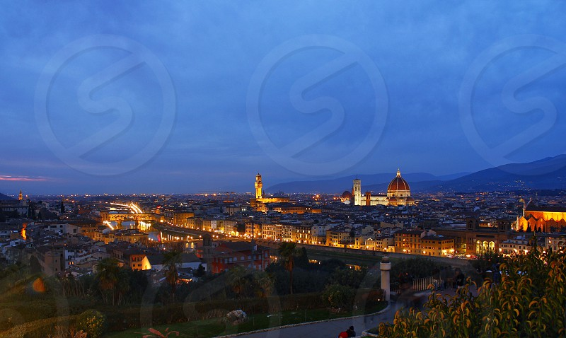 ItalyFlorencecitynight view  photo