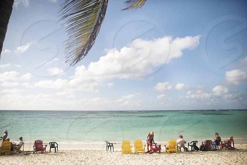 Friends at beach on US Virgin Islands photo