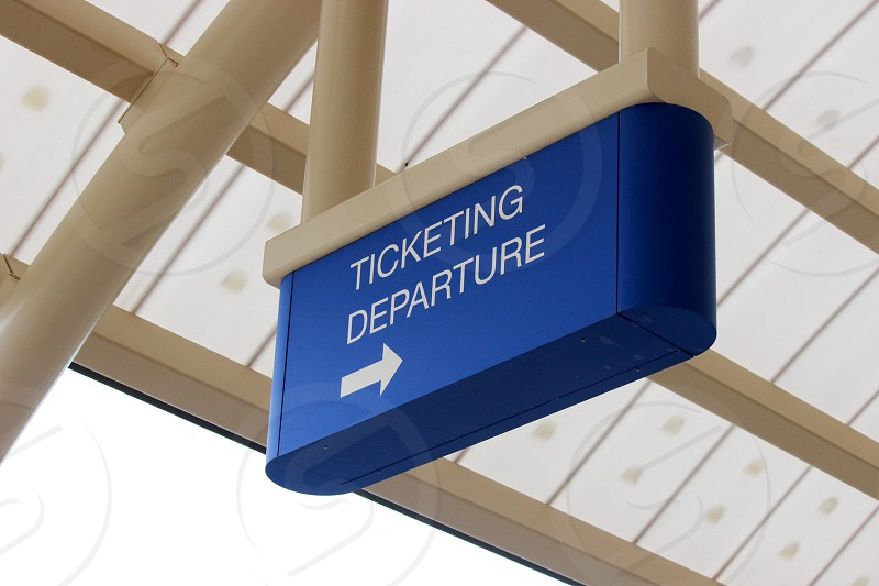 ticketing departure to the right photo