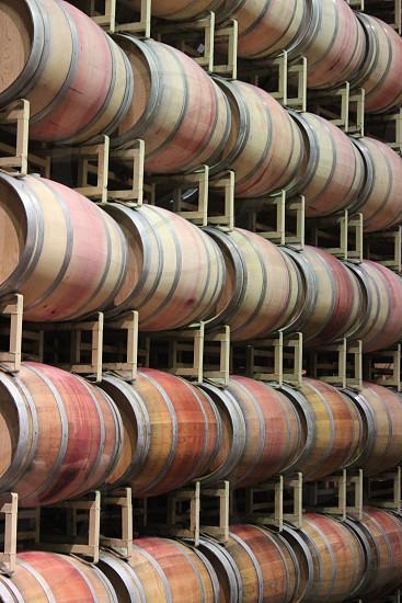 Wine barrels Napa Valley Wine making photo