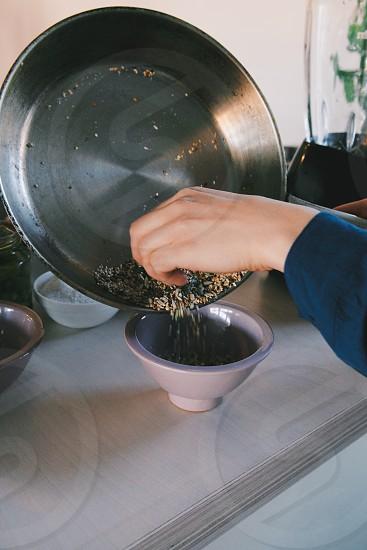 seeds cooking kitchen pan photo
