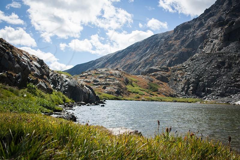 Landscape Mountains Colorado Lake photo