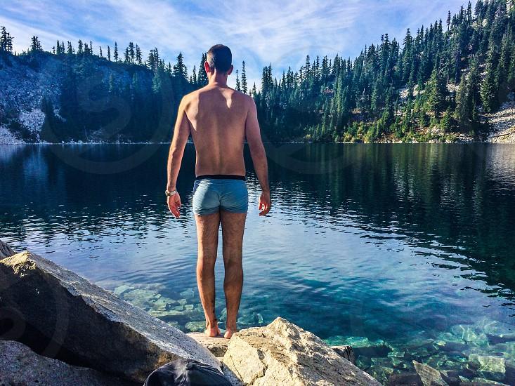 Lake swim briefs photo