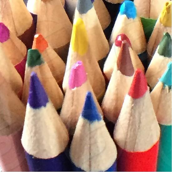 Colored Pencils Close Up photo