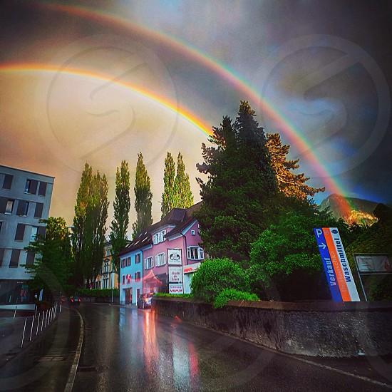 double rainbow view  photo