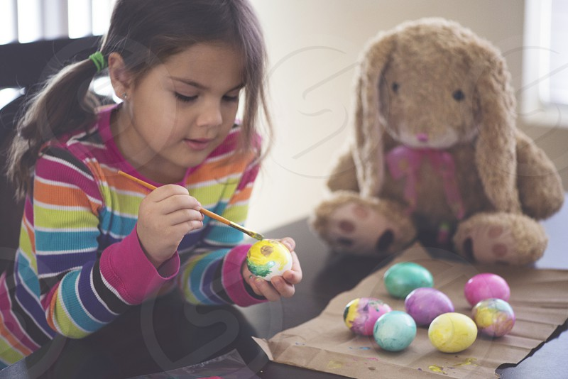 easter egg painting photo