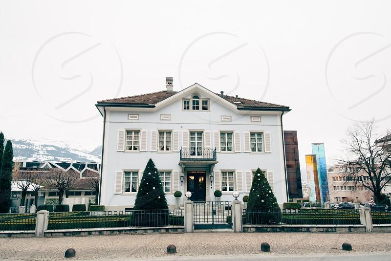 typical old family house in Vaduz Liechtenstein photo