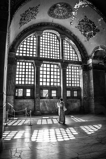 Lady in Hagia Sophia photo