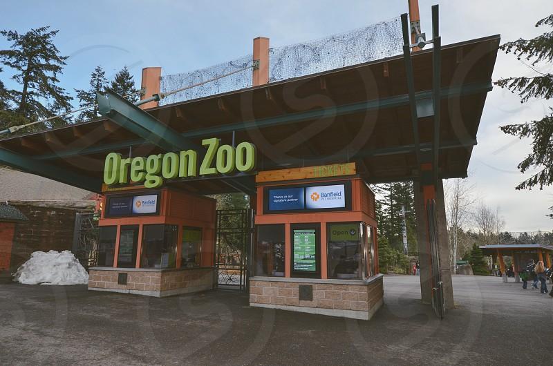 Oregon Zoo Portland entrance photo