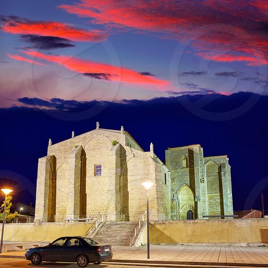 Villalcazar de Sirga sunset church Santa Maria la Blanca Way of Saint James in Palencia photo