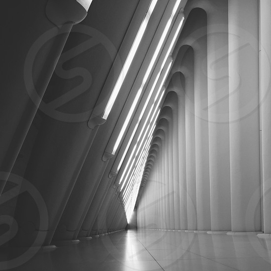 grey hallway photo