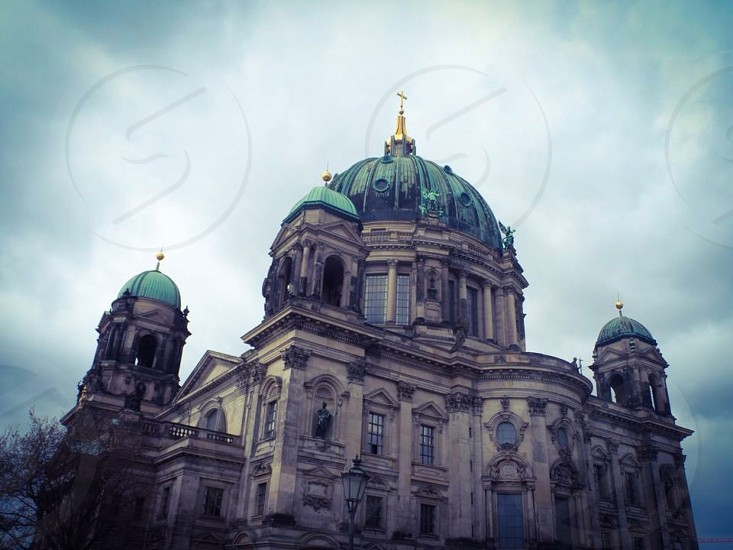 Berlin Cathedral Dom Religion Christianity worship classic Architecture some stone carving sculpture statues Germany Deutschland Europe European photo