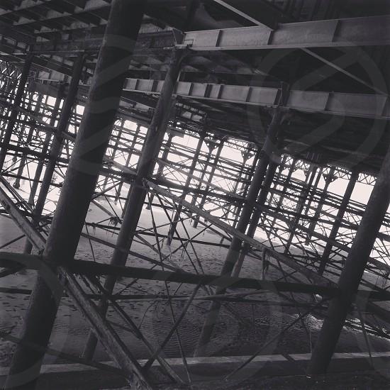 Underneath Blackpool pier photo