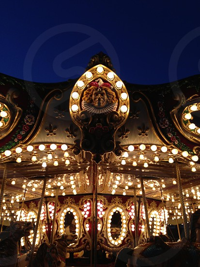 old fashioned carousel photo