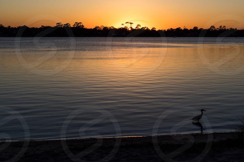 Sunset in Ormond BeachFlorida. photo