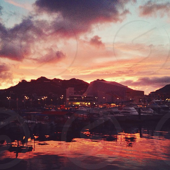 Sunset in Cabo San Lucas Mexico photo