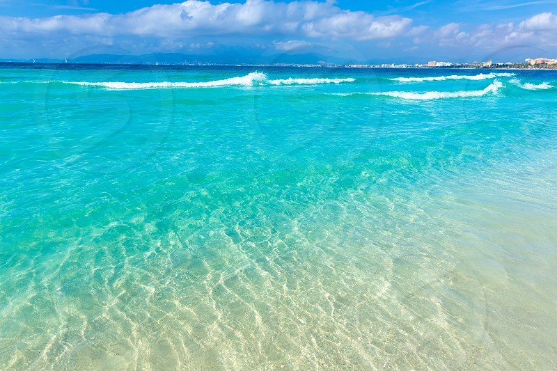 Majorca sArenal arenal beach Platja de Palma Llucmajor in mallorca Balearic Islands photo