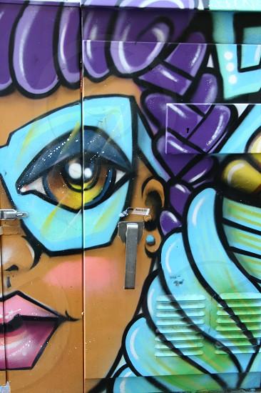street art on electrical box photo