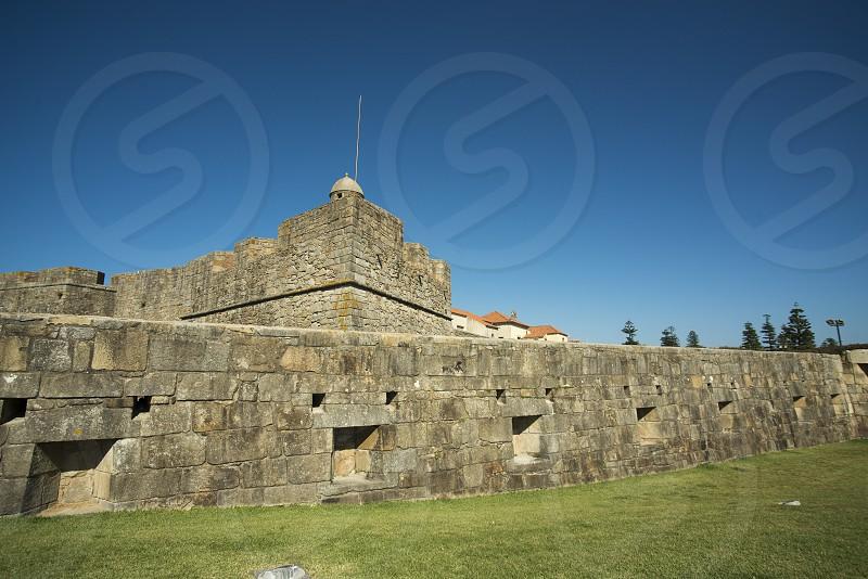 the castelo de queijo on the coast in the city centre of Porto in Porugal in Europe. photo