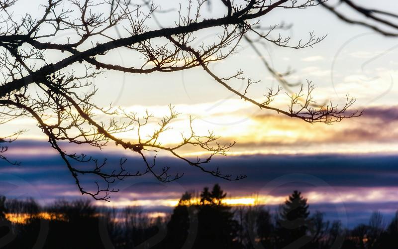 sunset glow color splash sky nature photo