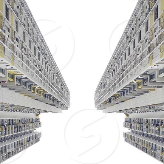 Look up looking up architecture Hong Kong symmetry minimalism minimal buildings photo