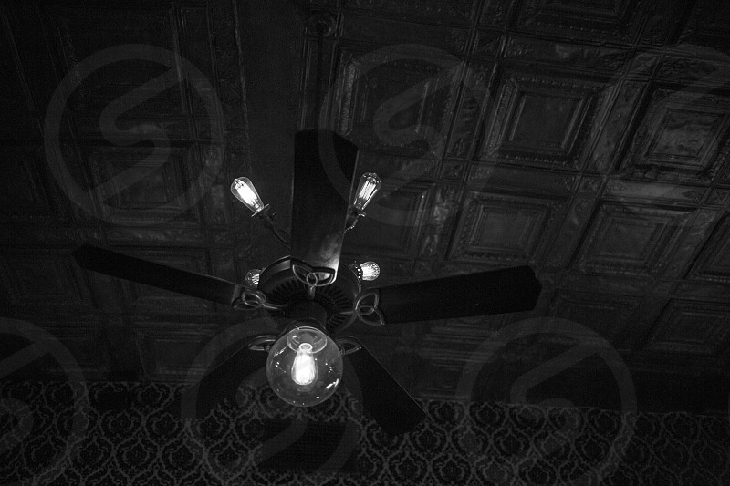 black ceiling fan with light photo