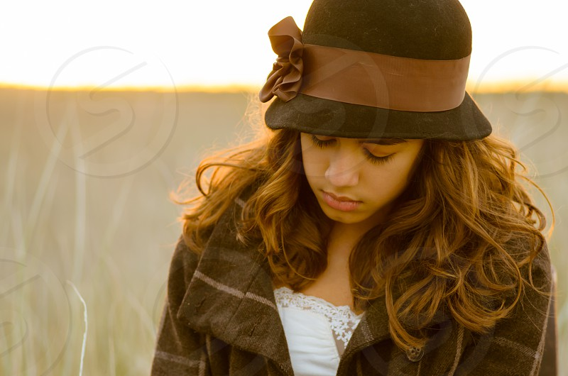 A young girl in beautiful natural light. photo