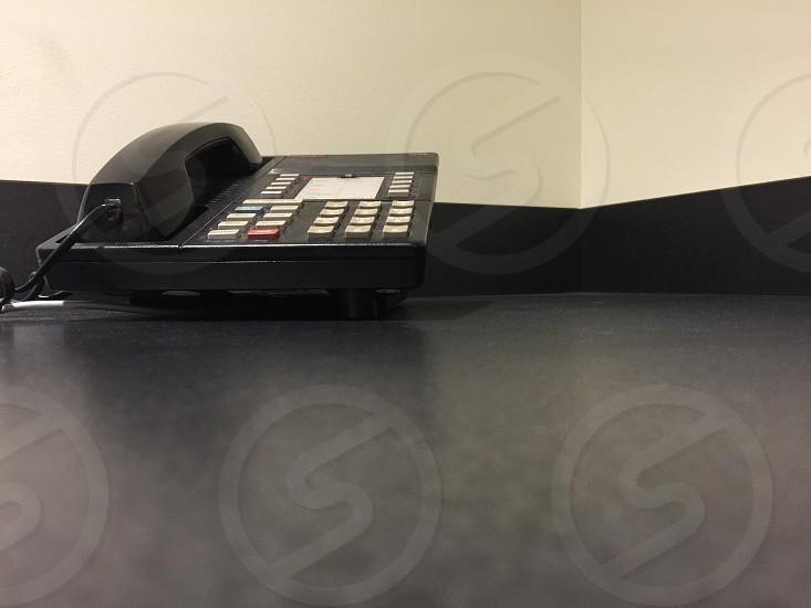 Phone on desk photo