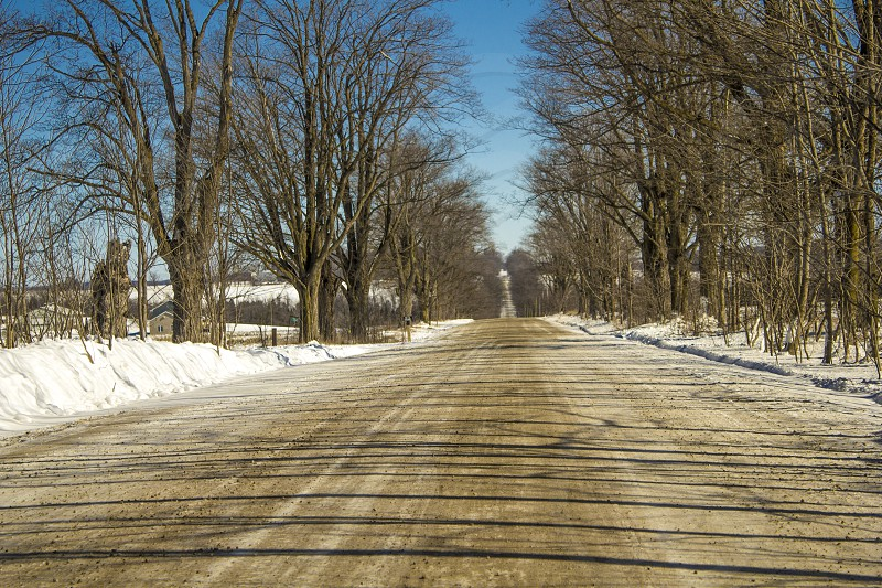 Nature/Country/Dirt Road/ Snow photo
