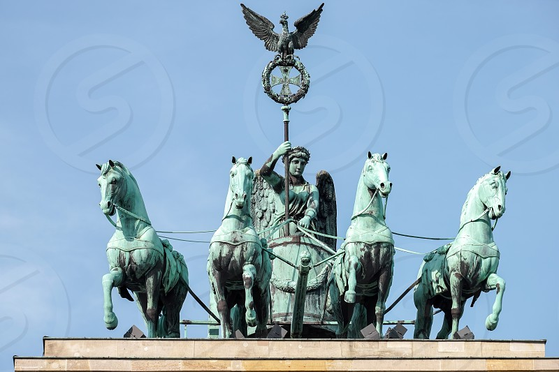 The Brandenburg Gate Monument in Berlin photo
