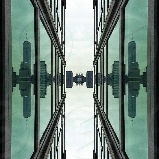 narrow curtain building photo