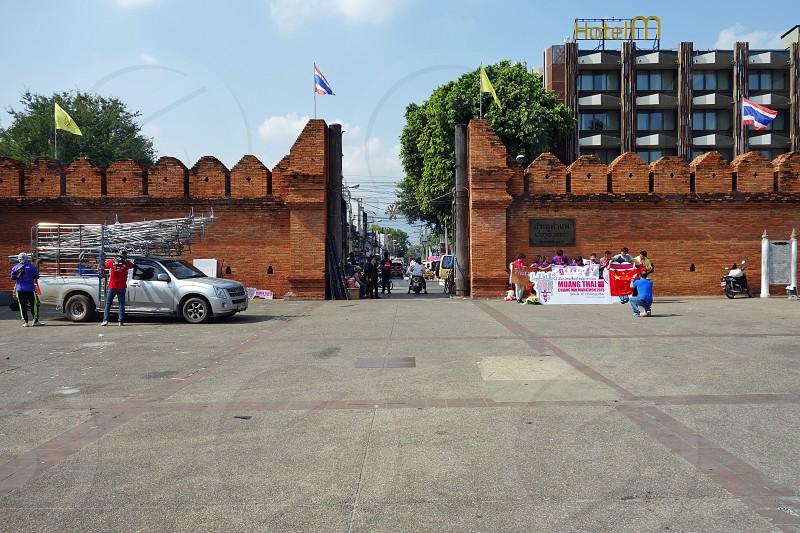 Tha Phae Gate in Chiang Mai Thailand photo