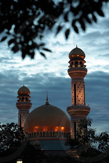 The Jame Asr Hassanil Bolkiah Mosque in the city of Bandar seri Begawan in the country of Brunei Darussalam on Borneo in Southeastasia. photo