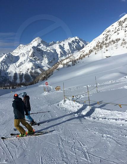Skiing Italy Alps photo