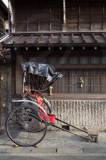 Before the rickshaw of old houseskamakura japan photo