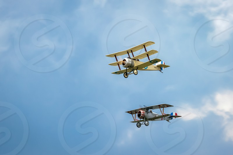 Nieuport 17 (Great War Team) and Sopwith Triplane Aerial Display at Biggin Hill Airshow photo